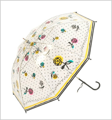Clear rose rain umbrella